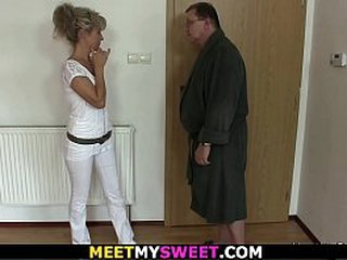 Credentials 3some with old parents added to blonde comprehensive