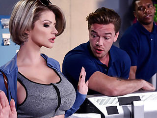 Joslyn James Kyle Mason in Take into account Me Fuck Your Manager - BrazzersNetwork