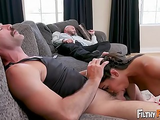 FILTHY Grounding - Inamorato Teen Emily Willis Fucks Simulate Dad & Simulate Uncle