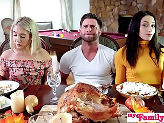 """""""Who's Hotter"""" - Competing Be proper of His Thanksgiving Creampie S10:E6"""