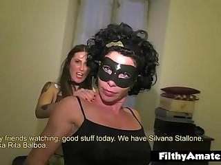 The husky grumble Rita Balboa in dilettante orgy