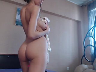 Teen Elizasweet Shining Titties On Put up with Webcam