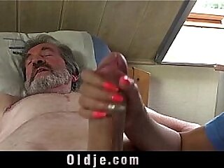 Teen nurse Lady Dee fuck antidepressant be proper of sick old turns out that