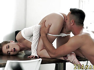 Morose hottie gives nut plus has anal