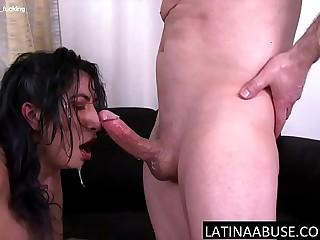 Latina maid facefucked to extreme