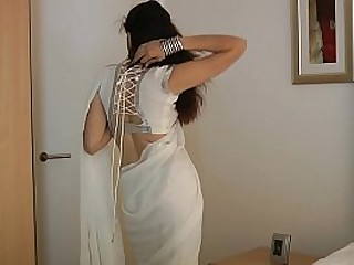 Indian College Non-specific Jasmine Mathur Near Washed out Indian Sari